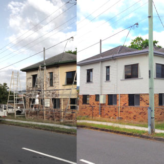 painting, exterior, house, building, professional, brisbane, bricks, townhouse, rooms, bedrooms, paint, renovation, restoration, residential, painters, professional, cost, price, quote, cheap, easy, subcontractors, before, after